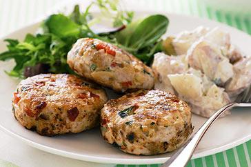 Easy recipe for chicken rissoles