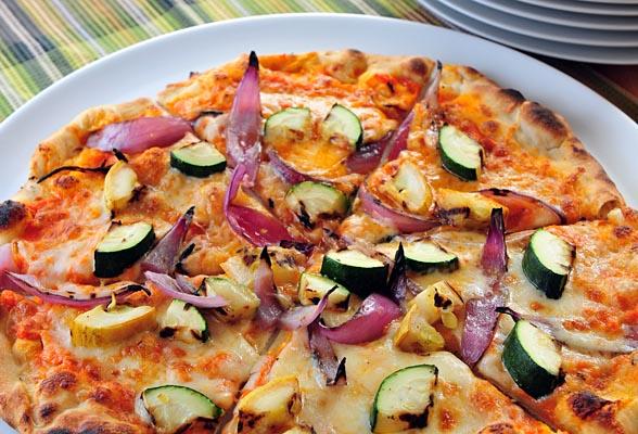 Supreme Veggie Pizza With Mozzarella And Feta Recipes — Dishmaps