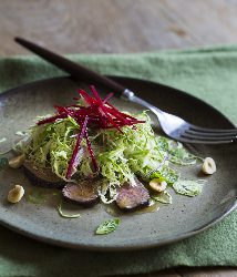 Venison with Brussels Sprout Slaw by Kathy Paterson