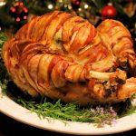 Roast turkey with pork sage onion stuffing