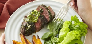 Roasted Lamb Rumps with Fresh Herb& Mustard Butter