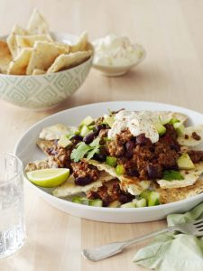 Beef Nachos with Avocado Salsa