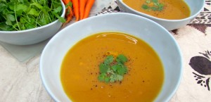 Carrot, kumara and potato soup