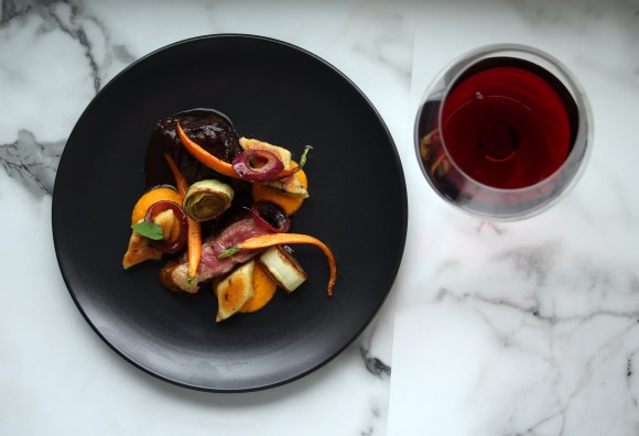 braised beef%2c morel gnocchi%2c roasted leeks & pinot noir madeira ...