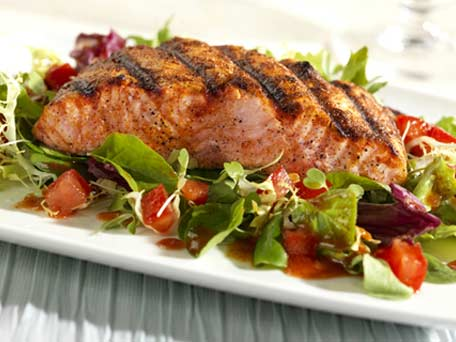nz summer recipes bbq salmon with mango salsa