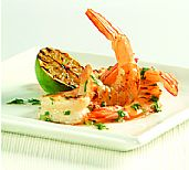 Healthy Food Ideas Prawns with Garlic & Chilli Lime Dipping Sauce