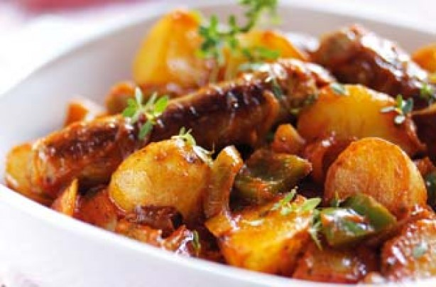 Crockpot Potato and Sausage Casserole Healthy food ideas