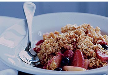 Apple and Cherry Berry Crumble - Fresh Ideas