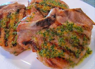 Grilled Pork with Orange Lentils and Hollandaise Sauce Fresh Ideas