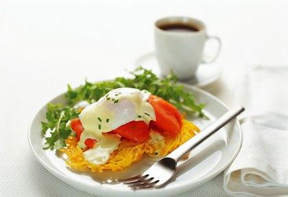 Poached Egg & Potato Rosti Healthy Food Ideas