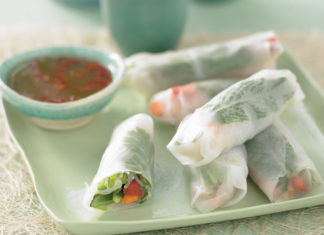 No-Cook Vegetarian Spring Roll healthy food ideas