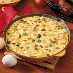 Ham and Vegetable Frittata Healthy Food Ideas