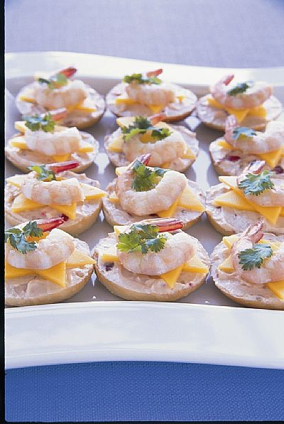Prawn and Mango Baby Bagels fresh ideas