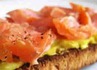 Healthy Food Ideas Lemon Cream Cheese and Salmon Bruschetta