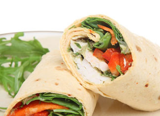Chicken and Tomato Wrap Healthy Food Ideas