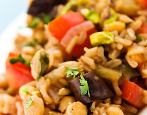 Chickpea and Tomato Pilaf Healthy Food Ideas