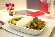What is the carbon footprint of airline meals ? fresh ideas