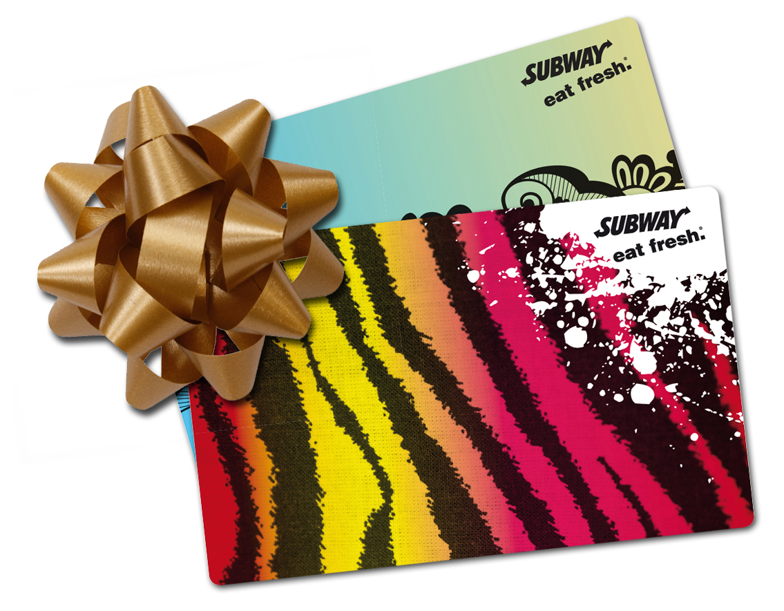 Winners of Subway card for mother's day fresh ideas
