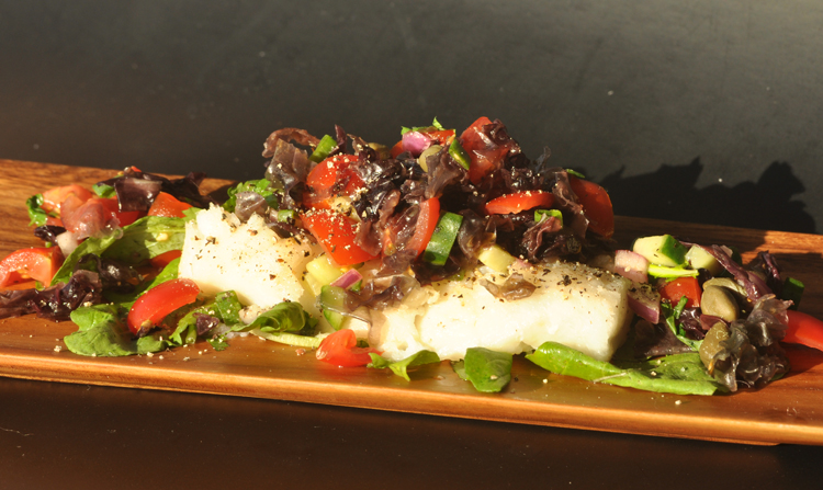 Blue cod with Karengo Salsa Fresh recipes healthy food ideas