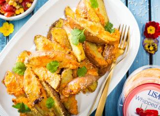 Sesame and Polenta Potato Wedges