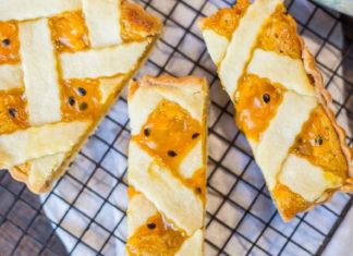 mango & Passionfruit Lattice Tart