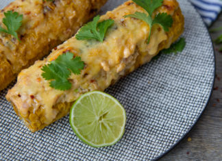 Grilled Corn with Chipotle Lime Mayo