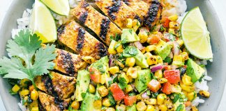 Chipotle Coffee Chicken with Corn Salsa