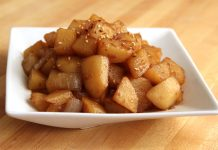 garlic soy potatoes