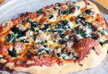 Sausage, Rocket and Pesto Pizza