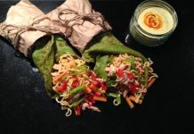 Spinach Indo Mie Crepes