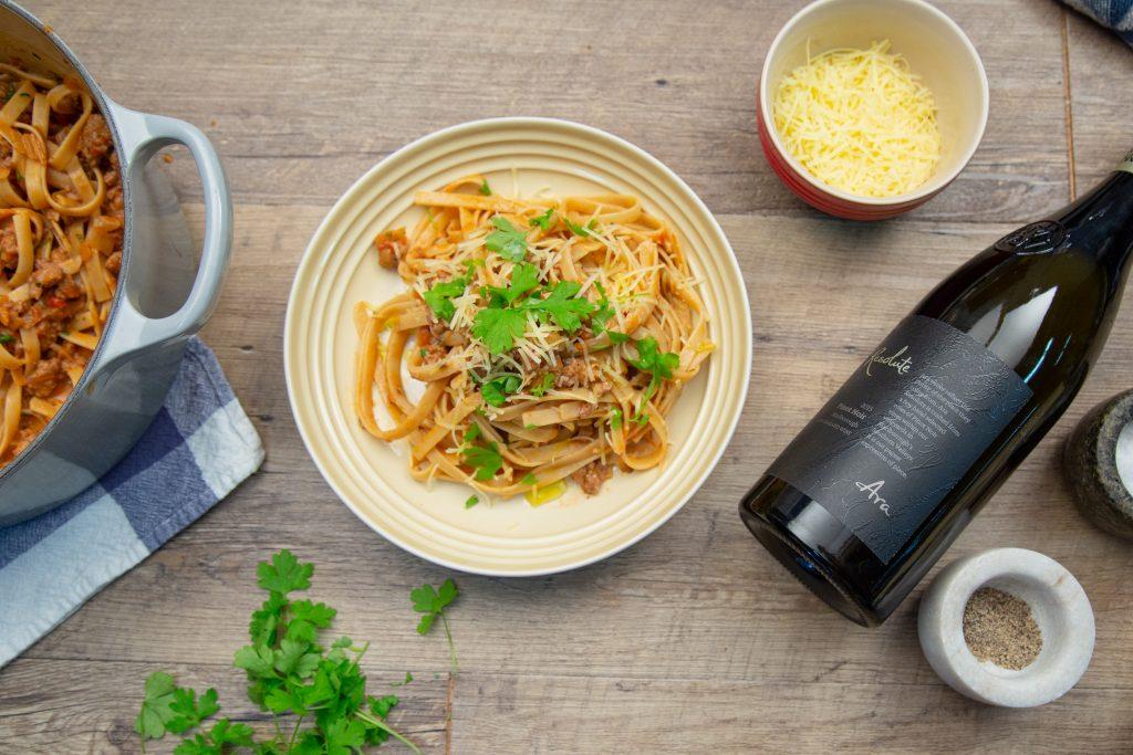 Pork Sausage, Rosemary & Tomato Pasta