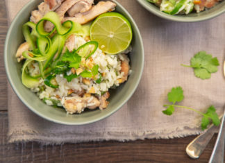 Coconut Rice and Chicken Salad