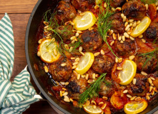 Summer Lamb Meatballs with Braised Fennel