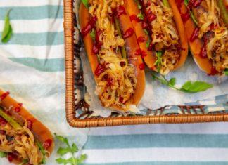 Vegetarian Sausage Hot Dog