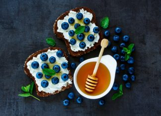 Blueberry, Ricotta & Honey Toast