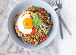 Brown Rice Chicken Nasi Goreng