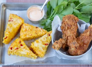 Southern Fried Chicken & Cornbread