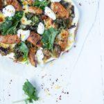 Veggie Sausage, Burnt Aubergine & Chilli Pizza