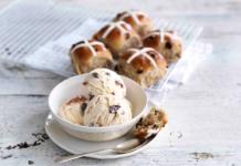 Hot Cross Bun Ice Cream