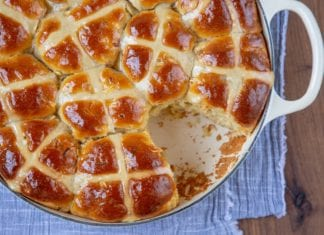 Apple & Cardamom Hot Cross Buns