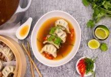 Vegan Umami Broth & Bok Choy Dumpling Soup
