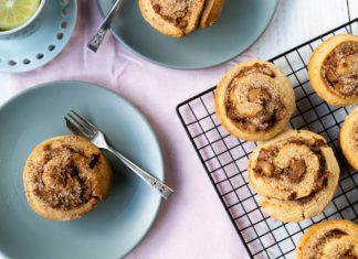 Apple Crumble Cinnamon Scrolls