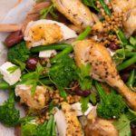colourful Herby Lemon Roast Chicken Salad