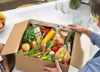fresh vegetables and ingredients inside a box