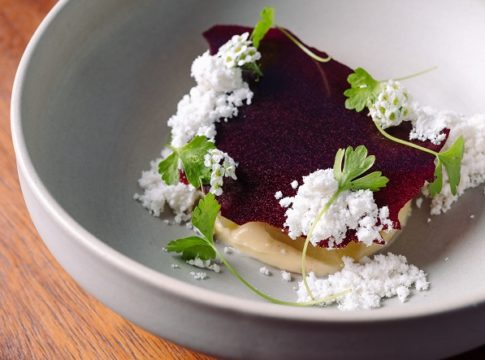 Apple with lovage, blackcurrant and cardamom recipe