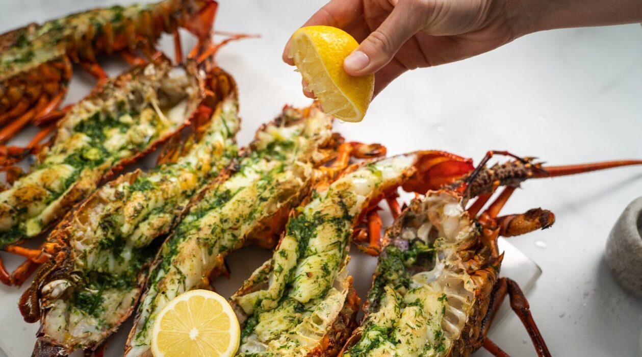 Barbecued Crayfish With Herby Garlic Butter Fresh Recipes Nz